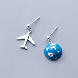 1d61877b2 Handmade Circle Pendant, World Map Stud Earrings » Road Less Travelled