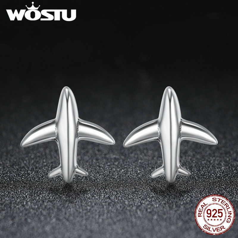 WOSTU-100-Pure-925-Sterling-Silver-Minimalist-Simple